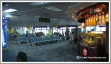 Seating in the departure Lounge of Phuket International Airport.