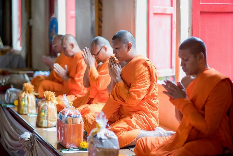 Monks Blessing at Wat Chalong