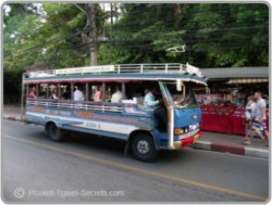 Songthaews are the local buses and are a fun way of getting around Phuket.