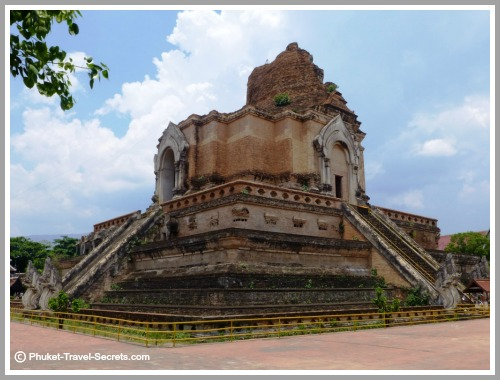Wat Chedi Luang in Chiang Mai is also known as the Temple of the Great Stupa or the Jedi Luang .