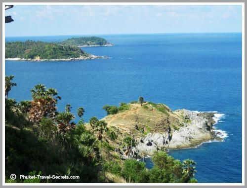Beautiful scenery around the island of Phuket.