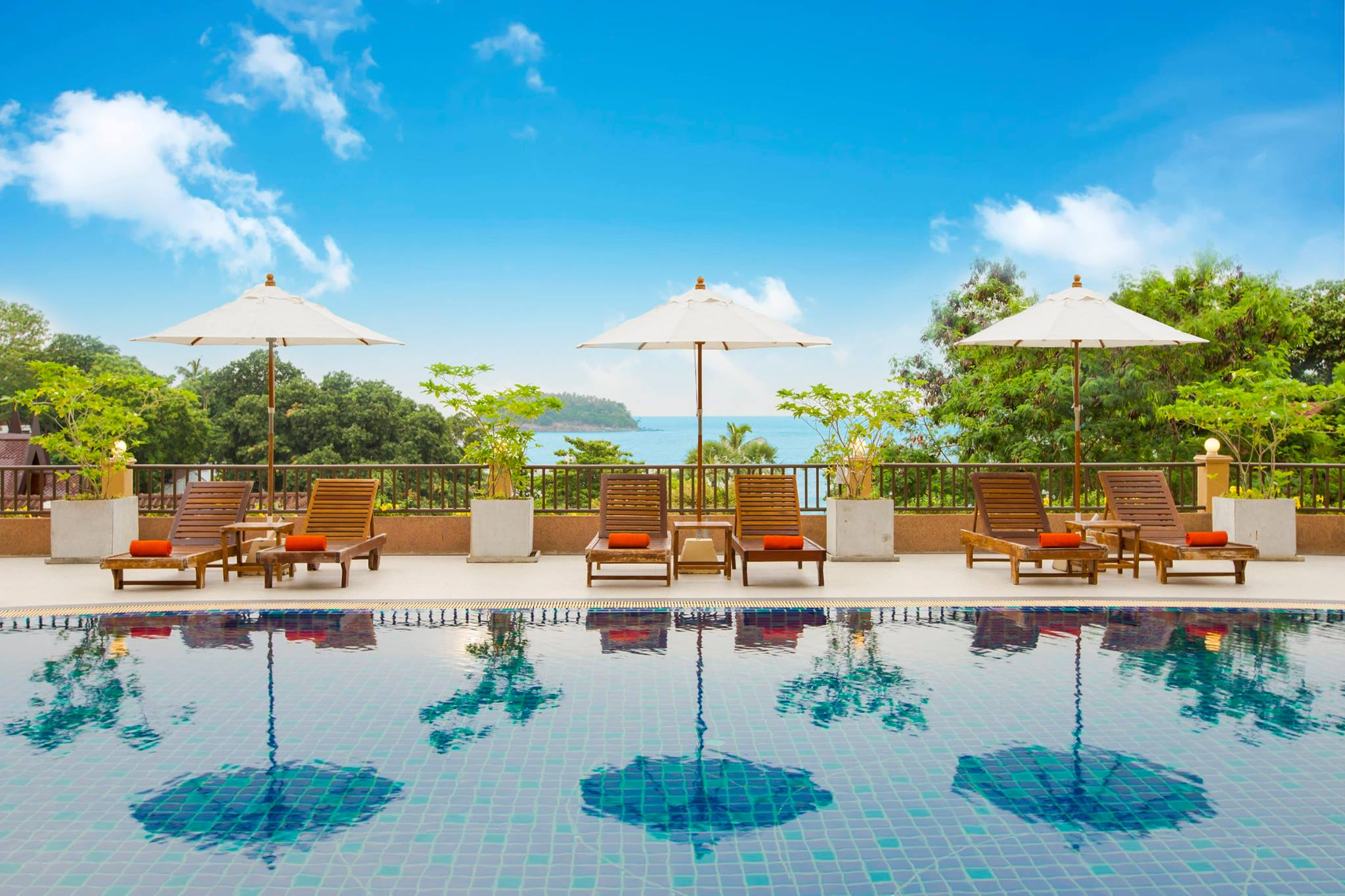Pool at Chanalai Garden Resort, formally known as the Tropical Garden resort