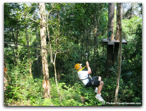 Flying through the trees in Chiang Mai