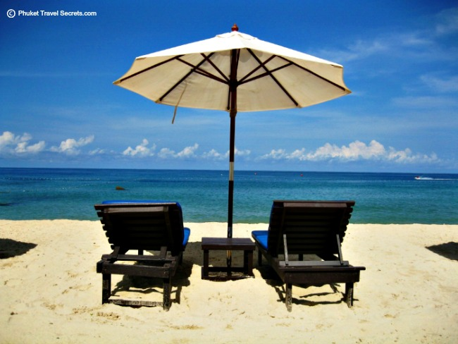 Phuket, looks like sunlounges on the beach are a thing of the past.