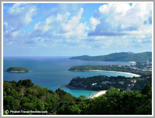 Phuket attractions include stunning views from Karon-Kata Viewpoint