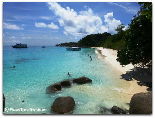 Beautiful clear waters at Ko Meang in the Similan Islands.