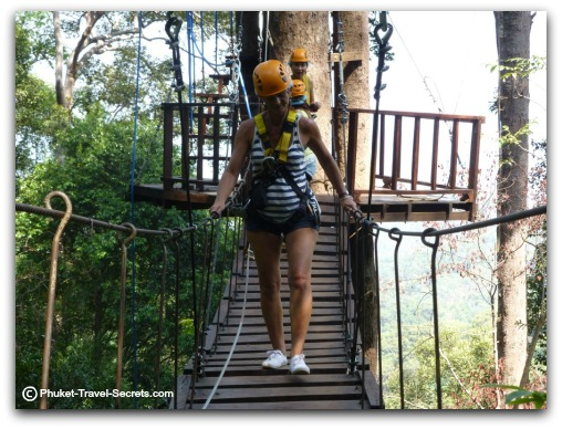 Zip lining Sky Bridge