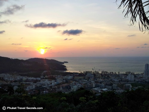 Sunset over Patong Bay from Wassa Homemade Bar & Viewpoint