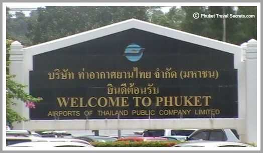 Welcome sign at Phuket Airport