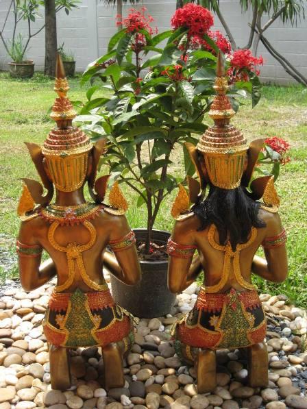 Multi Coloured Kneeling Teppanom Angels  - Back image