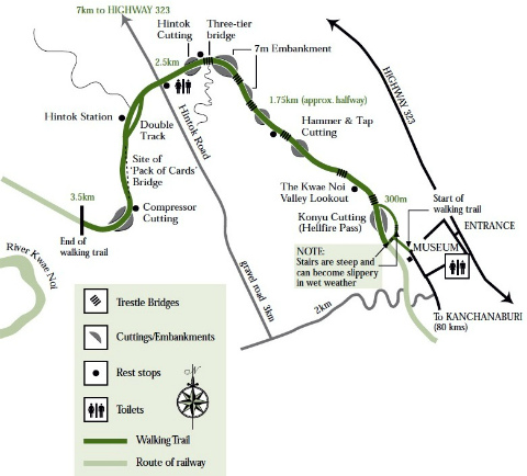 Map Of Hellfire Pass Waling Trail.