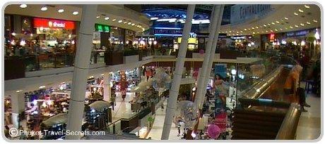Shopping in Phuket's Central Festival.