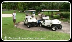 Golf Buggies and caddies at Loch Palm Phuket