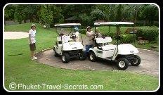 Golf Buggies and caddies at Loch Palm Phuket