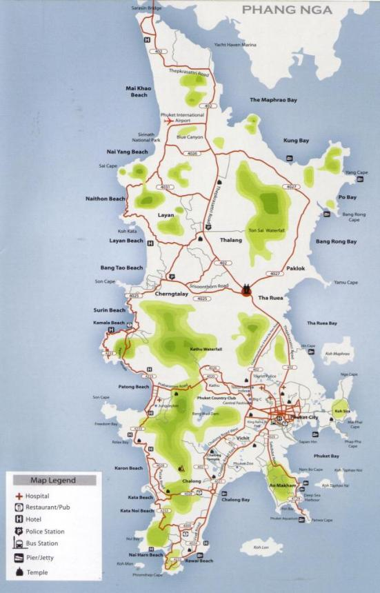 This Phuket Island map shows you all the beaches around the Island ...