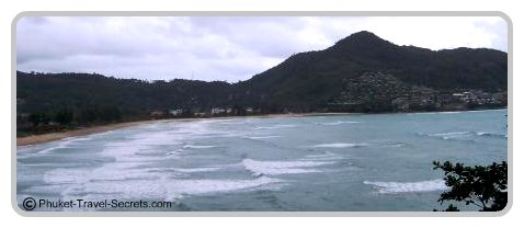During the monsoon season at Kamala Beach.