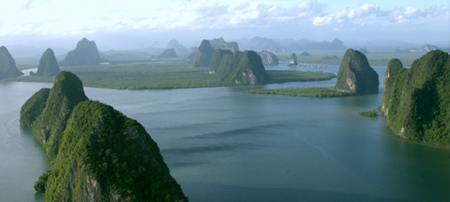 Helicopter rides over Phang Nga Bay