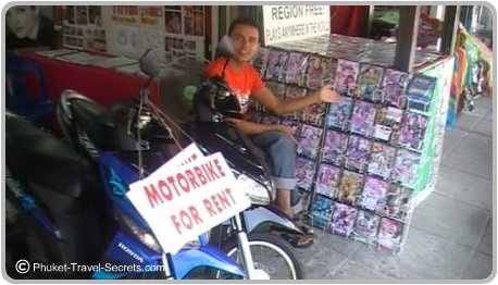 Motorbike for rent in Phuket