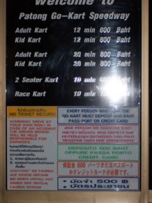 Go Kart Speedway, Phuket Go Karts, Family Fun activities for