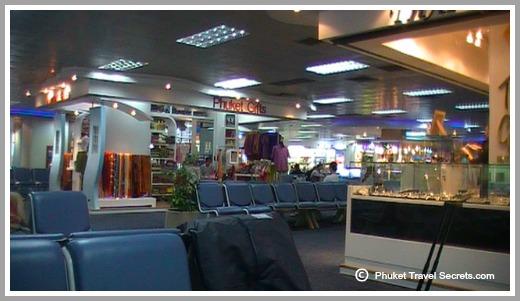 Phuket airport departure Lounge