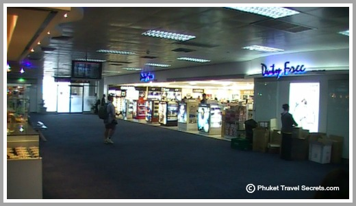 Duty Free shopping at Phuket Airport.
