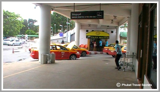 Metered Taxi's at Phuket Airport