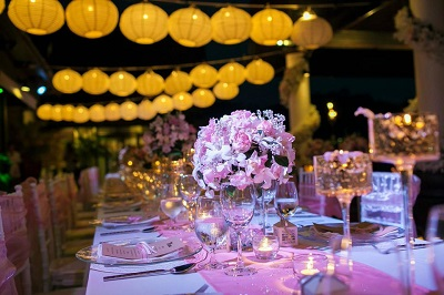Lighting and designs for a wedding in Phuket
