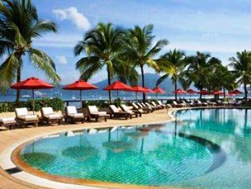 Pool at the Amari Coral Beach Resort at Patong Beach, Phuket.