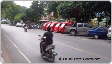 Tuk Tuks in Ao Nang.