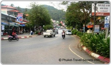Shops & convienience stores line the streets at Ao Nang.