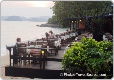 Great Views from the restaurants in Seafood Street in Ao Nang.