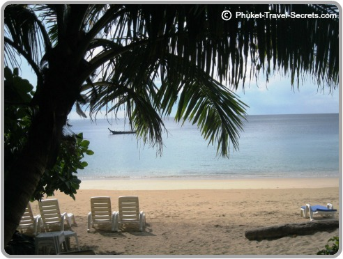 A picture perfect beach in Phuket.