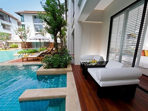 Deluxe pool rooms at the Banthai