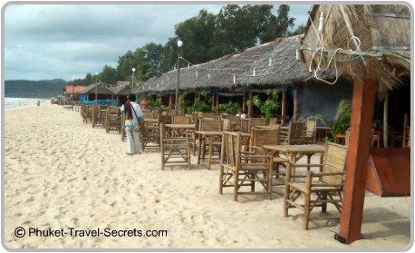 Beachside restaurants at Bangtao