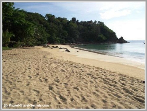 One of a few secret and secluded beaches in Phuket.