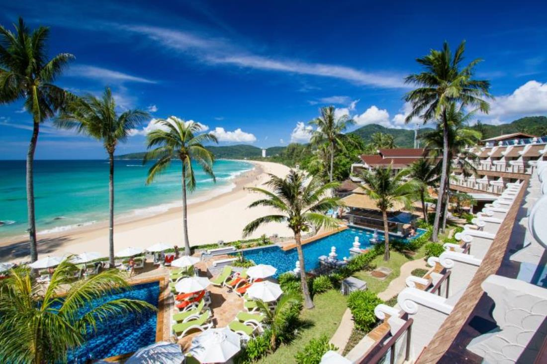 Beachfront resort at Karon Beach