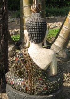 Back view of Buddha Image