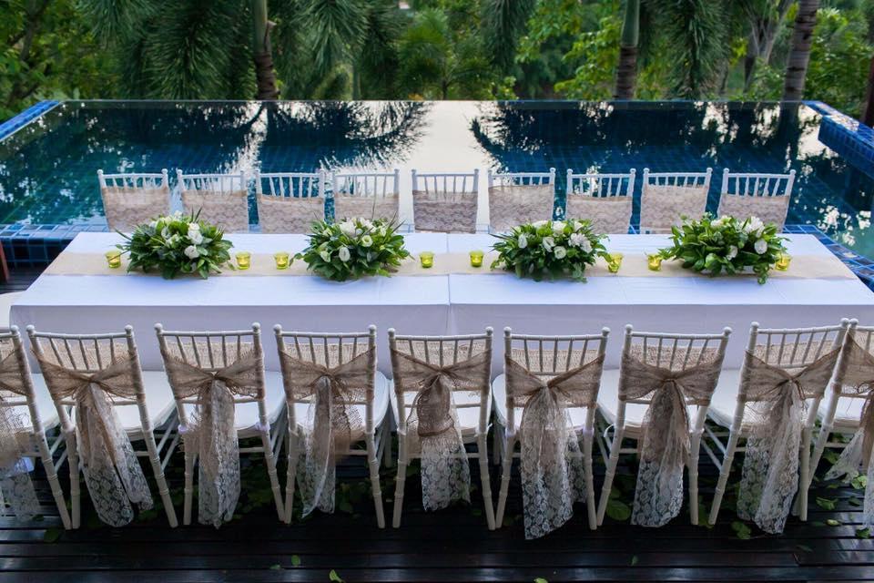 Chair designs for a Phuket wedding