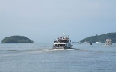 Ferry departing Phuket