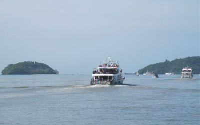 Ferry departing Phuket