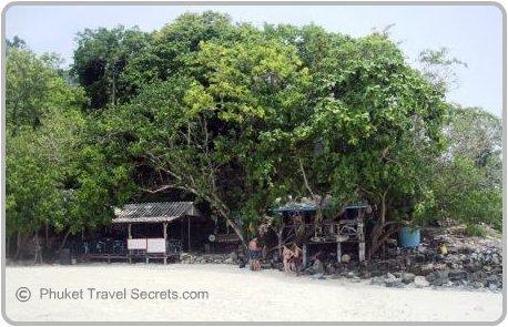 Restaurant, Bar and Toilets at Chicken Island, Krabi.