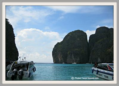 Speedboats In Maya Bay, Ko Phi Phi