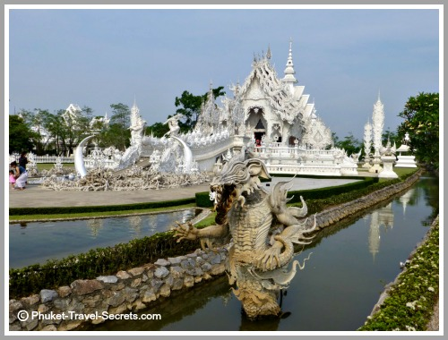 Impressive life size sculptures at the White Temple in Chiang Rai.