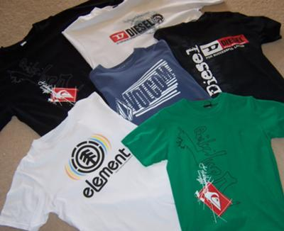 Quicksilver and Diesel T shirts from Karon Beach markets