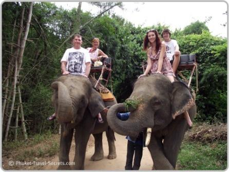 Elephant Trekking in Kanchanaburi Thailand.
