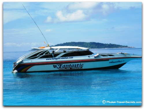 Fantastic Similain Tours speedboat.