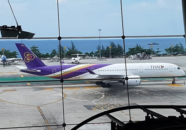 Thai Airways flight from Phuket Airport