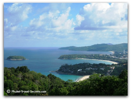 The 3 beautiful beaches of Kata Noi, Kata and Karon Beaches just south of Patong.