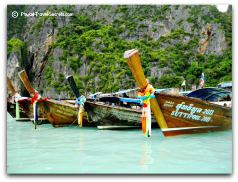 Longtail Boats available to take you to some of the best beaches and nearby offshore islands.