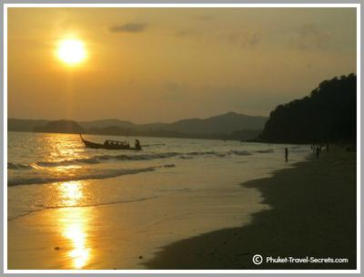 Sunset at Ao Nang Beach, Krabi